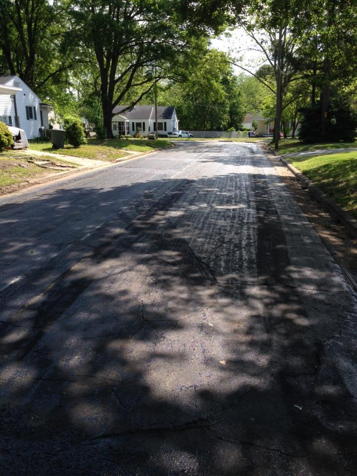 Arlington Circle - milled and ready for repaving
