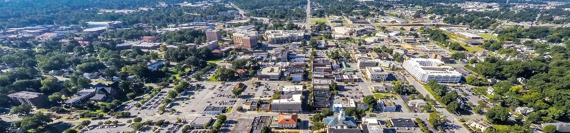 Aerial photo of Uptown District