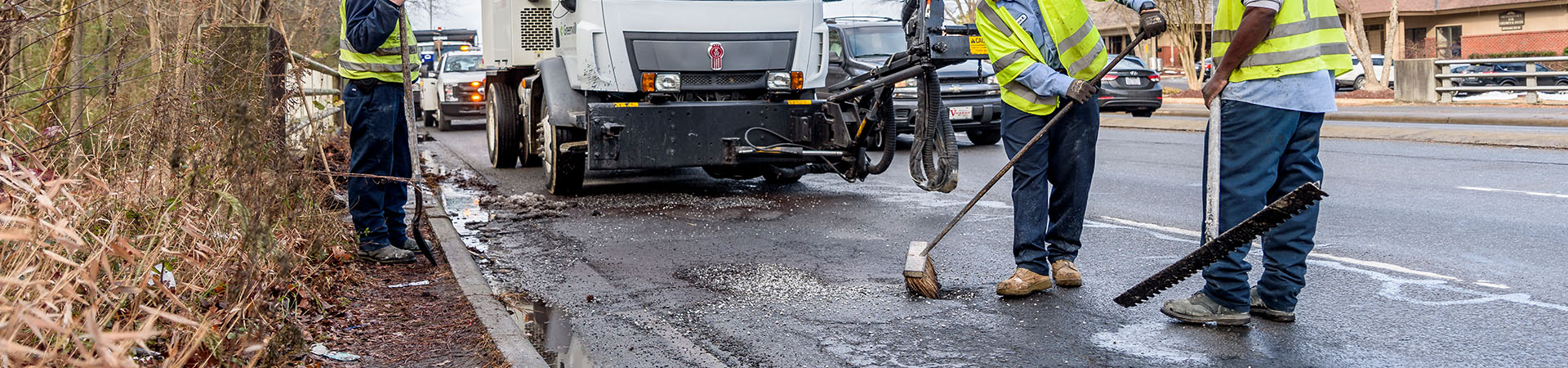 Street repair of a pothole